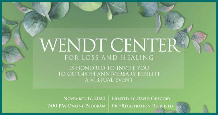 Wendt Center 2020 Benefit Invitation