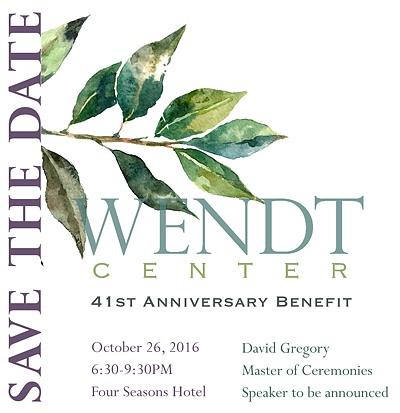 Save the Date - Wendt 41st Annual Benefit - October 26, 2016