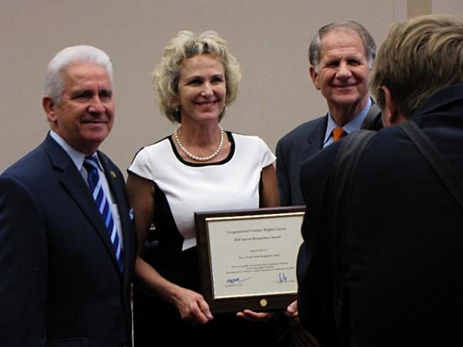 Melissa Hook accepting award
