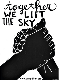 together we lift the sky